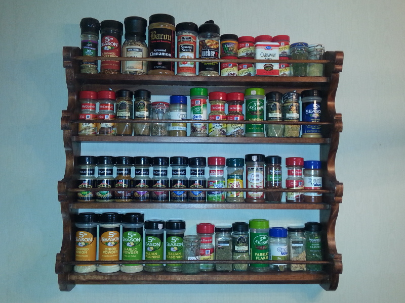 The Culinary Apothecary Spice Rack.