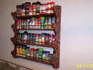 Side view of finished spice rack.