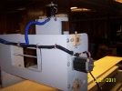 Y-Axis motor mounted to the machine.